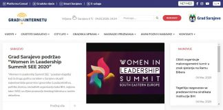 "Grad Sarajevo podržao ""Women in Leadership Summit SEE 2020"""