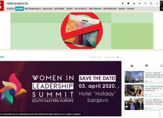 RadioSarajevo.ba: Najava / Women In Leadership Summit SEE SARAJEVO 2020 održat će se 3. aprila